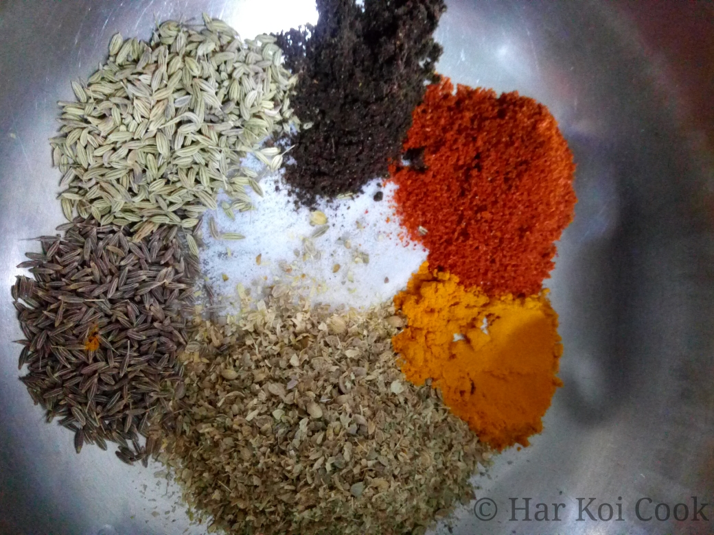 Masalas or Spices for making Punjabi Bharwa Bhindi - Har Koi Cook